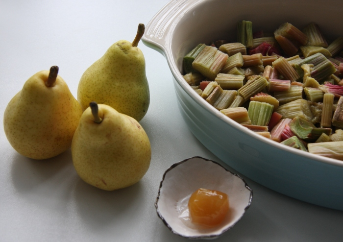 rhubarb pear and ginger