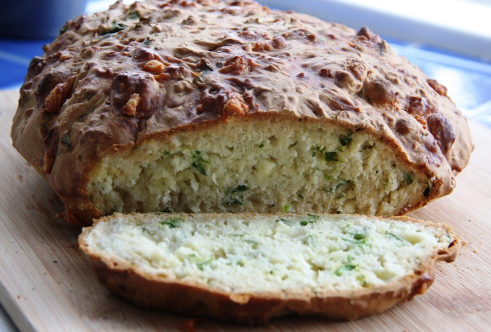 watercress cheese soda bread