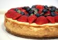 baked vanilla berry cheesecake