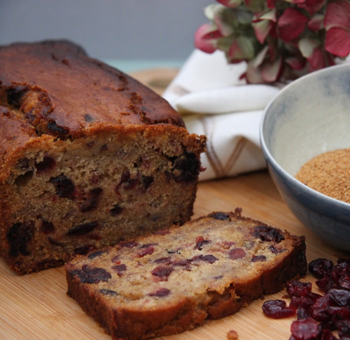 banana cranberry coconut sugar loaf