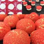 red choux buns