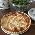 salmon watercress quiche