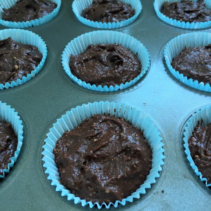 chocolate gf muffins