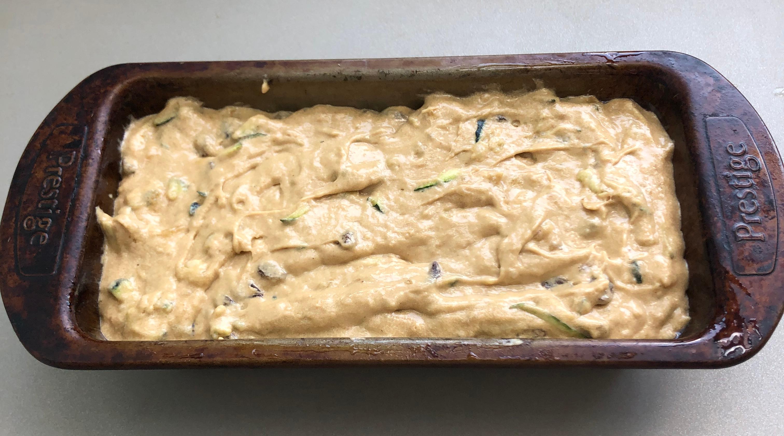 banana courgette bread