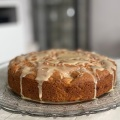 maple pecan apple cake